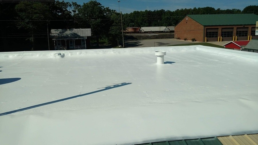20 Year Old Roof Repaired with Fabric Reinforced Roofing System