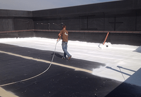 Spray applyed roof coating
